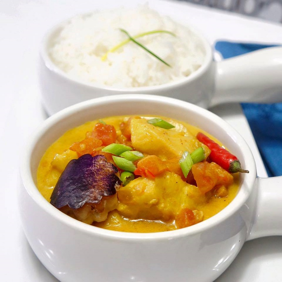 Nigerian Spicy Coconut Fish Curry with Basmati Rice will be served at the African Food Festival Berlin