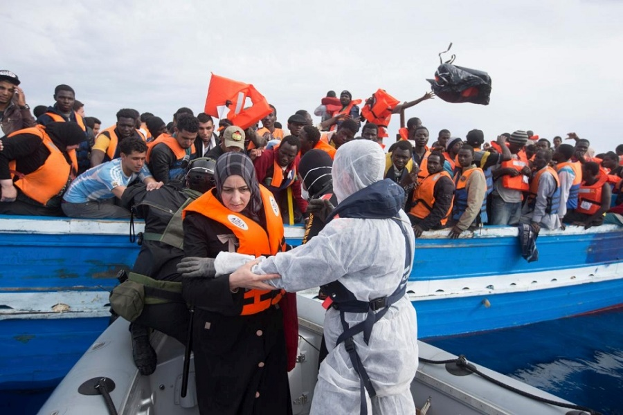 Illegal migrants Italy
