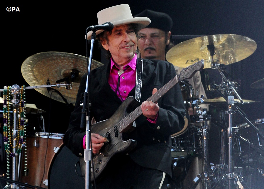 American singer Bob Dylan has been hailed as 'a great poet'