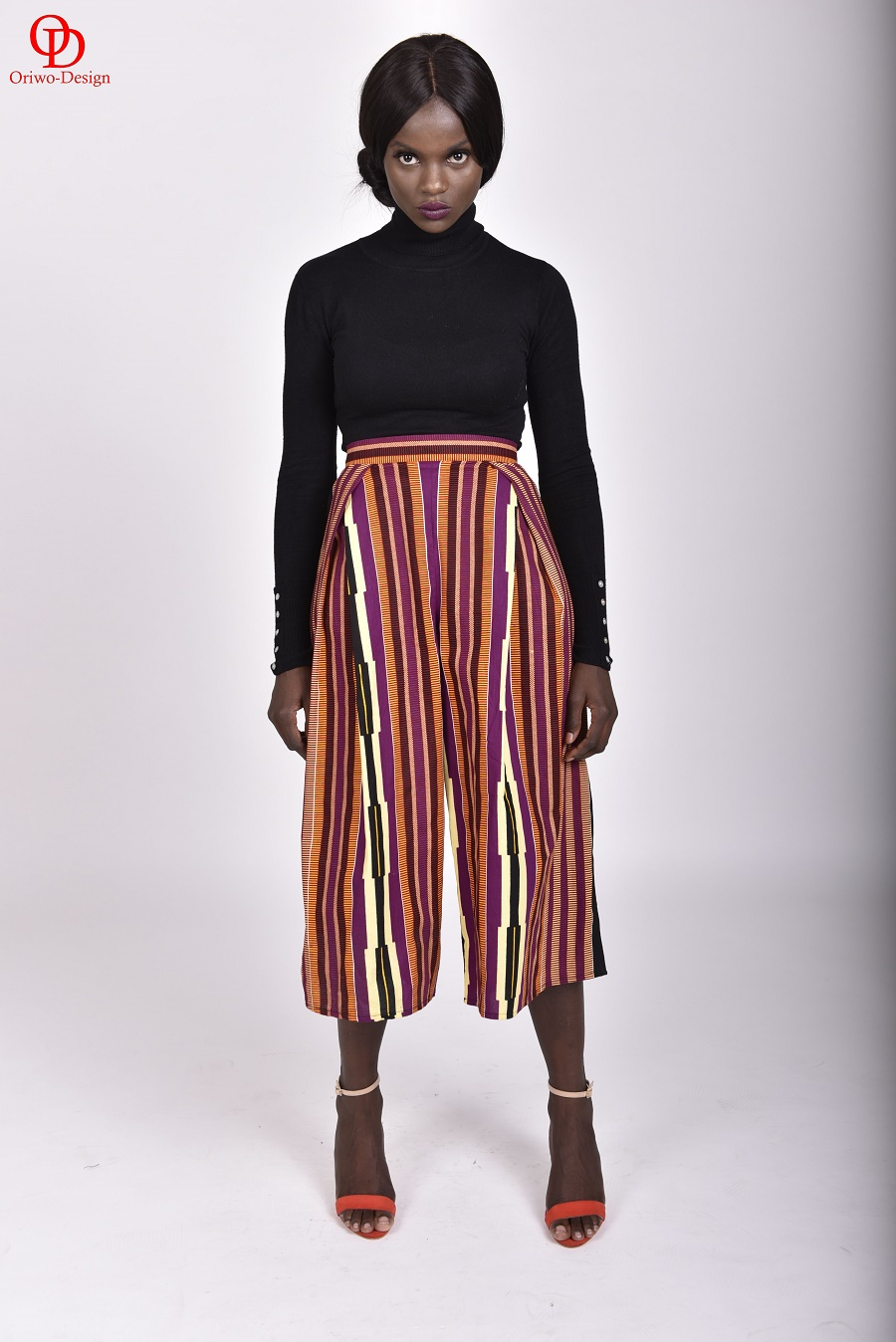 Striped-African-Print-Culottes