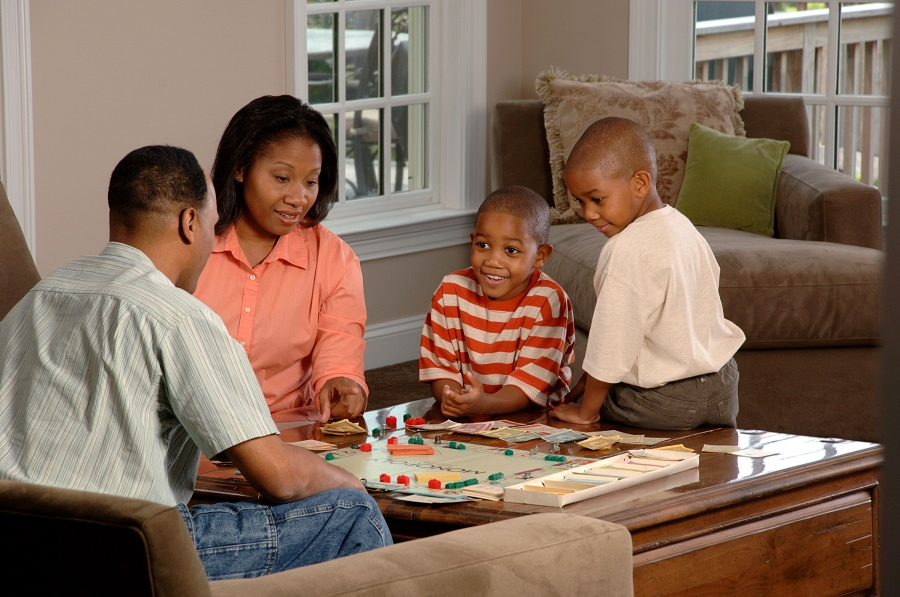 African-family-playing