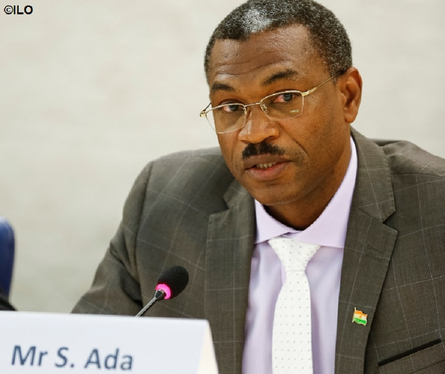 """""""This signature is the logical next step in our efforts to fight this plague that is infecting our society… Having ratified the Protocol to the Forced labour Convention, we are responding to a very strong political commitment,"""" said Salissou Ada, Minister of Employment of Niger, first country to ratify the Protocol"""