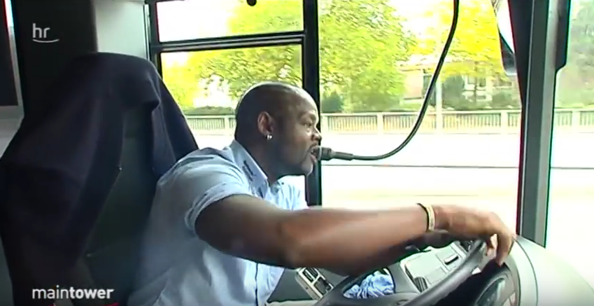 Mr Justin Zongo has been branded the most popular African bus driver in Germany