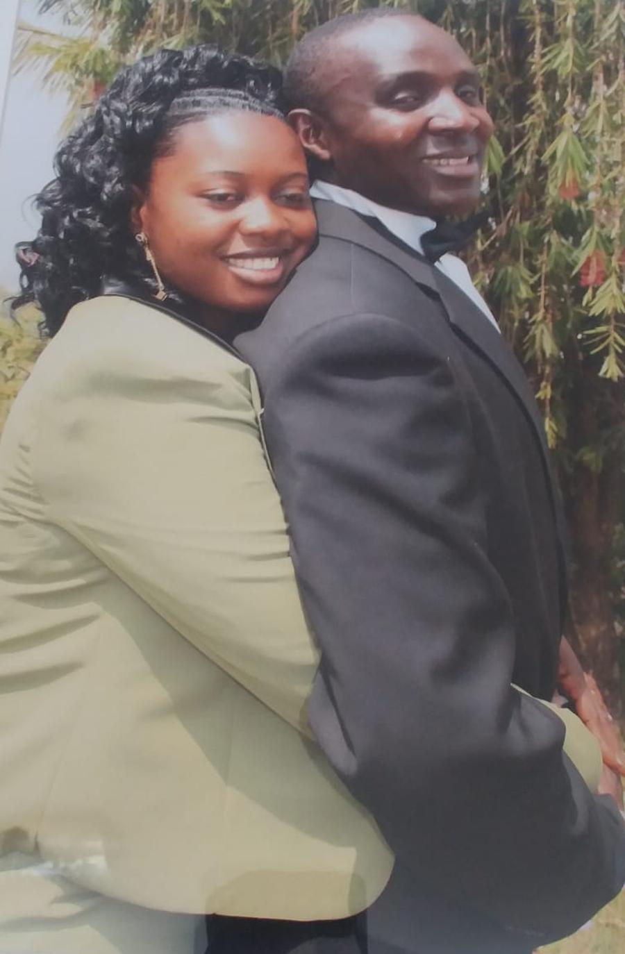 Felix Tatah and wife