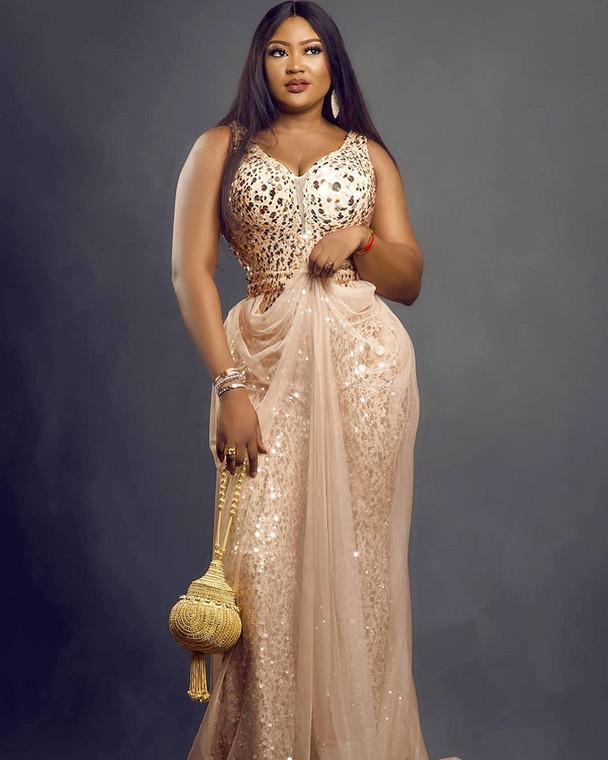 Nollywood actress Uche Elendu is one of the stars creating awareness on coronavirus (image courtesy of Instagram)