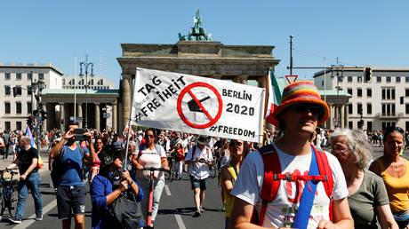 Germany anti-coronavirus anti-mask mask demonstrations