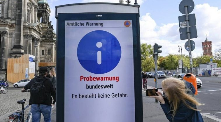 Germany tests warning sirens