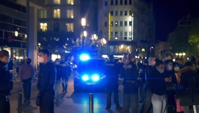 Police attacked in Franfurt
