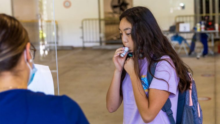 rapid breath test that detects COVID-19