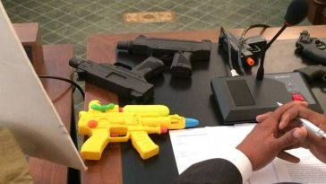 african men arrested over dummy weapon in Germany