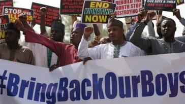 344 kidnapped Nigerian school boys