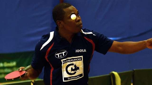 Nigerian table tennis star Kolawole Oladapo