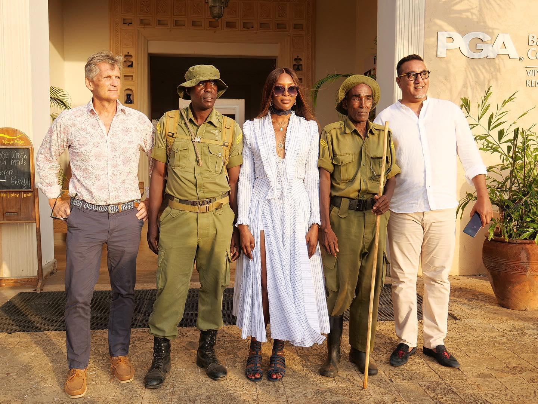 Kenya's Tourism secretary Najib Balala and British supermodel Naomi Campbell (Photo: Ministry of Tourism – Kenya/Facebook)