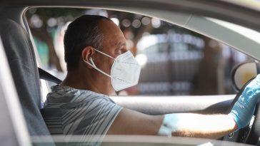 Mask in car Germany