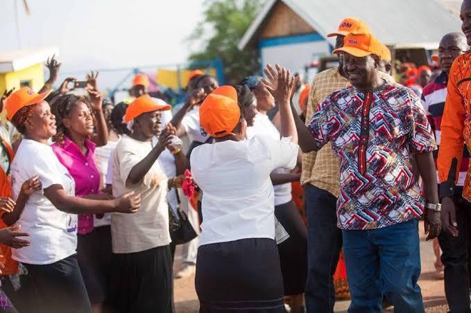 Mr Raila Odinga at a recent public event
