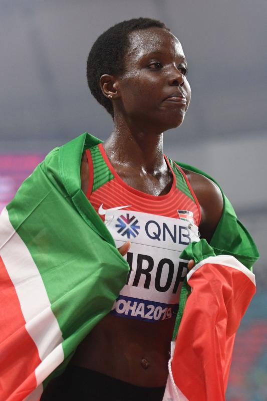 Agnes Tirop breaks world record